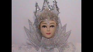 DIY/МК Как сделать воротник для Снежной Королевы.