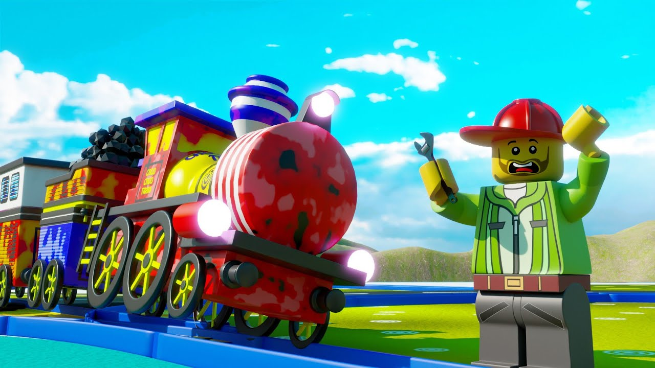Lego train fail - Lego city cartoon - Choo choo train kids videos