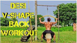 DESI- V-shape Back Workout⏺️||Vipin Yadav||