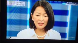 2015年9月10日.11日に常総市水害被害について、女優の羽田美智子さんが...