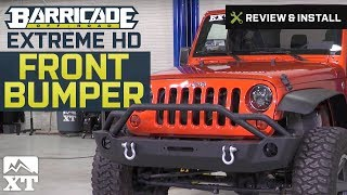 Jeep Wrangler (2007-2017 JK) Barricade Extreme HD Front Bumper Review & Install