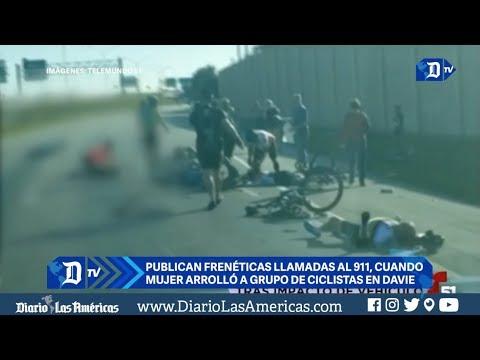 publican freneticas llamadas al 911 cuando una mujer arrollo a ciclistas