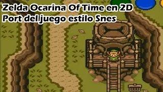 Zelda Ocarina of time en 2D Port estilo A link To the Past