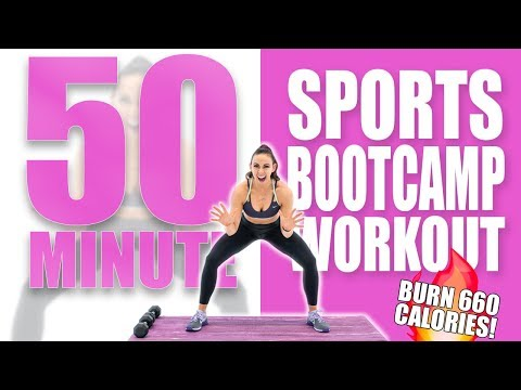 50 Minute Sports Boot Camp Workout ��Burn 660 Calories!��Sydney Cummings