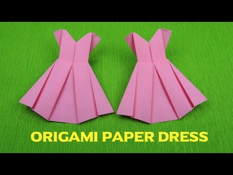 How to make a paper Dress, Origami Dress, Paper Dress tutorial