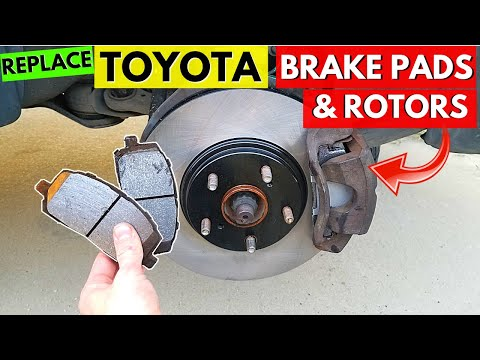 Replace TOYOTA Brake Pads & Rotors. Front/Rear. Camry, Corolla, Highlander, Tacoma, Tundra, 4runner