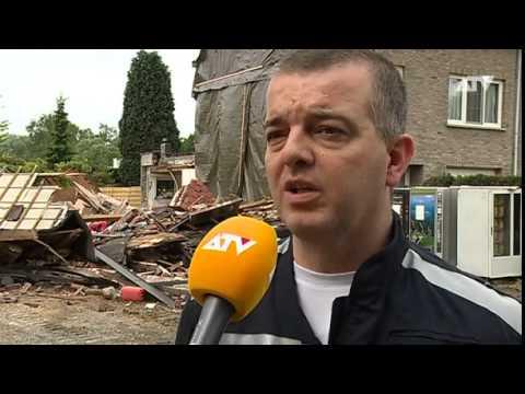 Huis stort in in Schoten