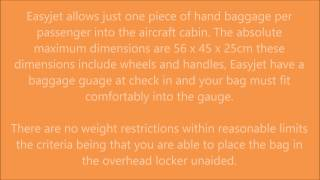 Easyjet Hand Luggage Allowance