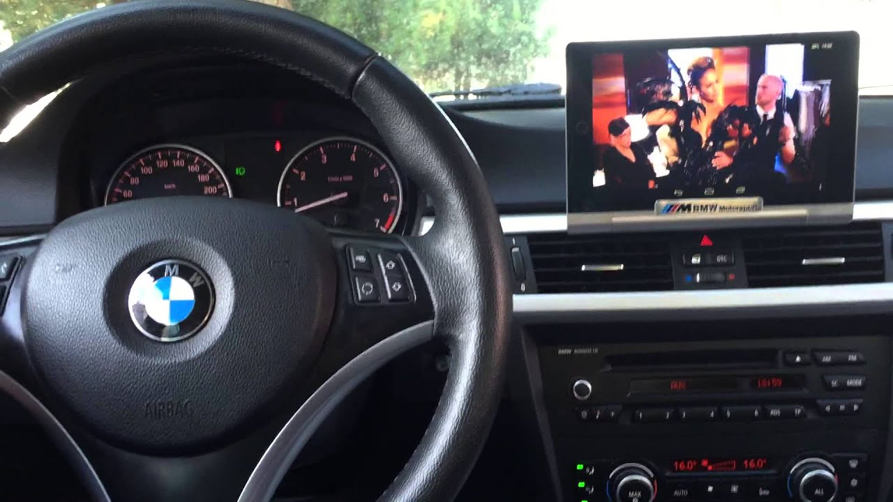 Bmw Screen Tablet Mount E90 Install Audio Upgrade