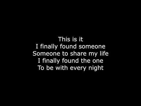 I FINALLY FOUND SOMEONE | HD with lyrics | BRYAN ADAMS by Chris Landmark