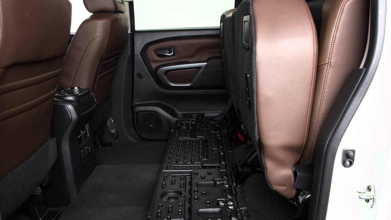 2016 Nissan Titan Diesel Folding The Rear Bench Seat