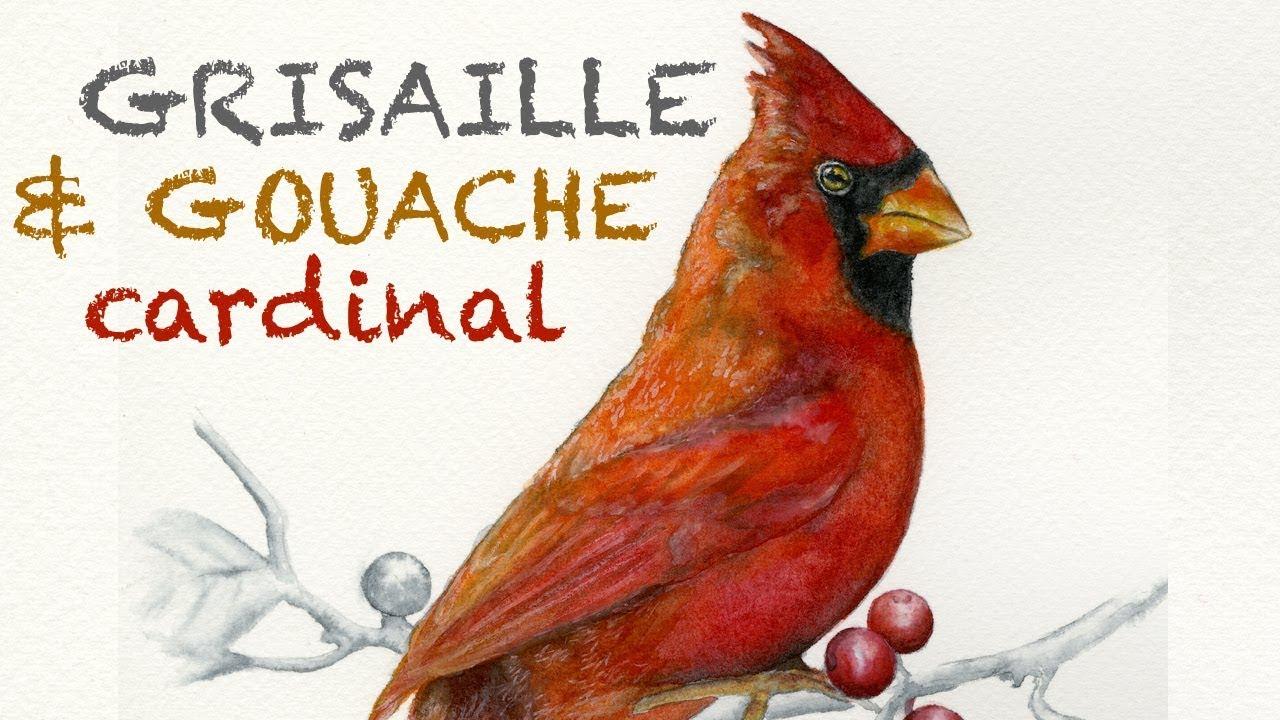 Gouache (Aquabrique) Cardinal + Grisaille Value Underpainting