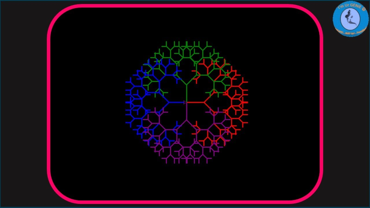 Fractal Tree Art is Made using Python Turtle