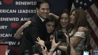 Family of Marco Rubio Gives Him Hug As He Leaves Presidential Race