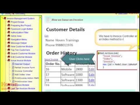 MVC Project New Invoice Module Invoice Management System - Invoice module