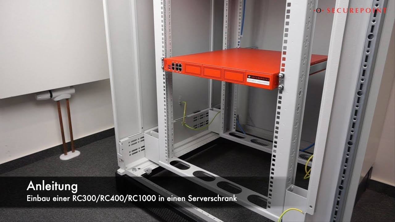 Rack Montage Securepoint Rc300 Rc400 Rc1000 Youtube