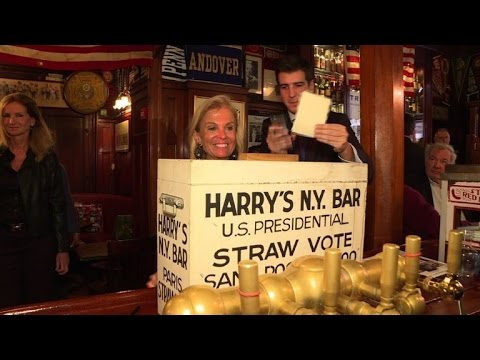 Paris bar launches traditional US presidential straw poll