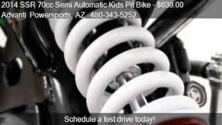 2014 SSR 70cc Semi Automatic Kids Pit Bike Motocross for sal