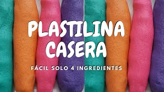 Plastilina Casera NO TÓXICA para niños - Como hacer plastilina con harina