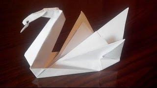 Лебедь оригами, origami swan