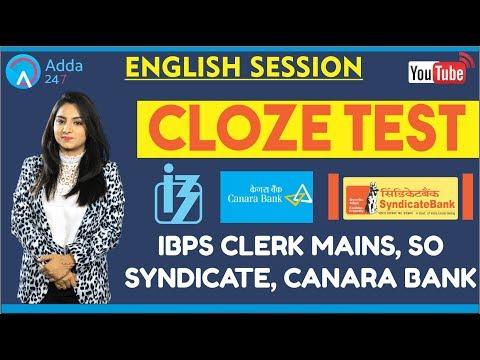 ADDA247 Night Class - SYNDICATE, CANARA BANK, IBPS CLERK MAINS | Cloze Test | English