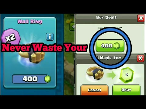 HOW TO USE WALL RING CLASH OF CLANS || NEVER BUY IT || SAVE YOUR GEMS