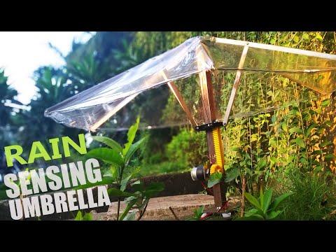 DIY Automatic Beach & Garden Umbrella With Rain Sensor   Mechanical Project