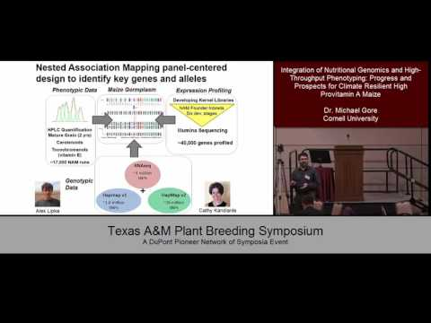 Texas A&M Plant Breeding Symposium 2015: Speaker: Dr. Micheal Gore