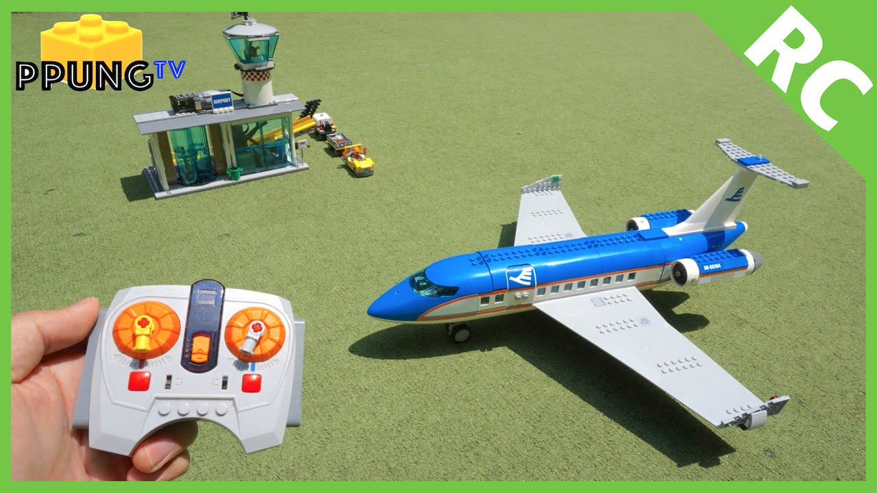 LEGO 60104 RC Motorized Airplane & Airport Passenger Terminal by 뿡대디