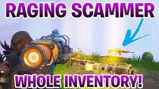 Raging Scammer Scams Himself For Inventory (Scammer Gets Scammed) Fortnite Save The World