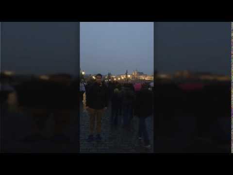 Hyperlapse on Carl's Bridge in Prague