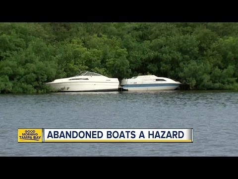 Dozens Of Abandoned Boats Are Littering Tampa Bay Waterways