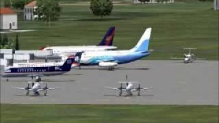 Fs2004 Aerocaribbean 737-200 Arrival and Departure from San Pedro Sula, Honduras