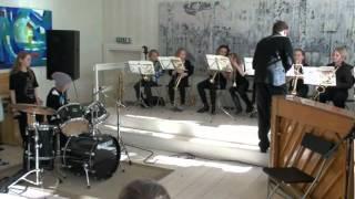 Fra huskonsert med Vestre Trysil Skolekorps - de yngste musikantene