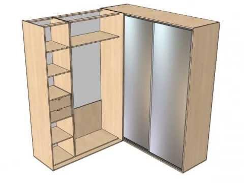 Угловые шкафы купе Как спланировать угловой шкаф купе?