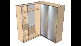 Угловой шкаф 90 градусов(Подробнее об изготовлении корпусной мебели - на сайте: www.sdmeb.ru., 2013-06-26T08:10:47.000Z)