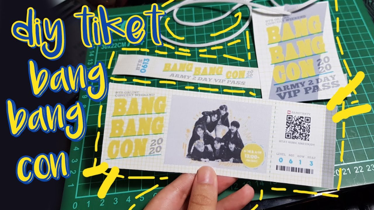 DIY Tiket BTS BANG BANG CON | Indonesia | virakkuma