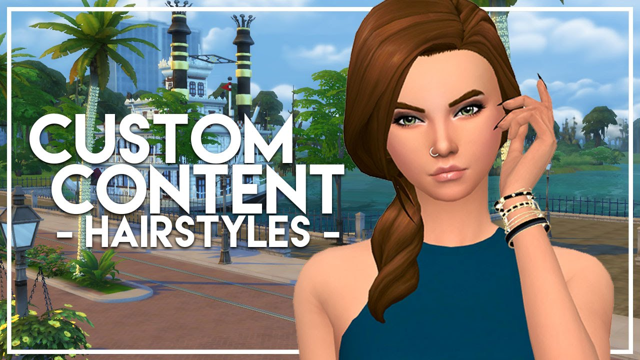 The Sims 4: Custom Content Finds | Maxis Match Hairstyles
