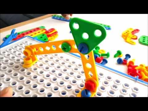 STEM Manipluative Brain Building Toy Montessori Games Preschool Kindergarten Star Flex Creative Connecting Construction Kit for Kids by Skoolzy