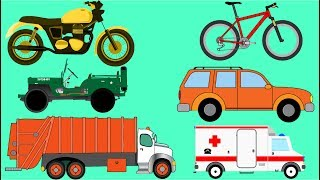 Aprender cores com caminhão carro e moto