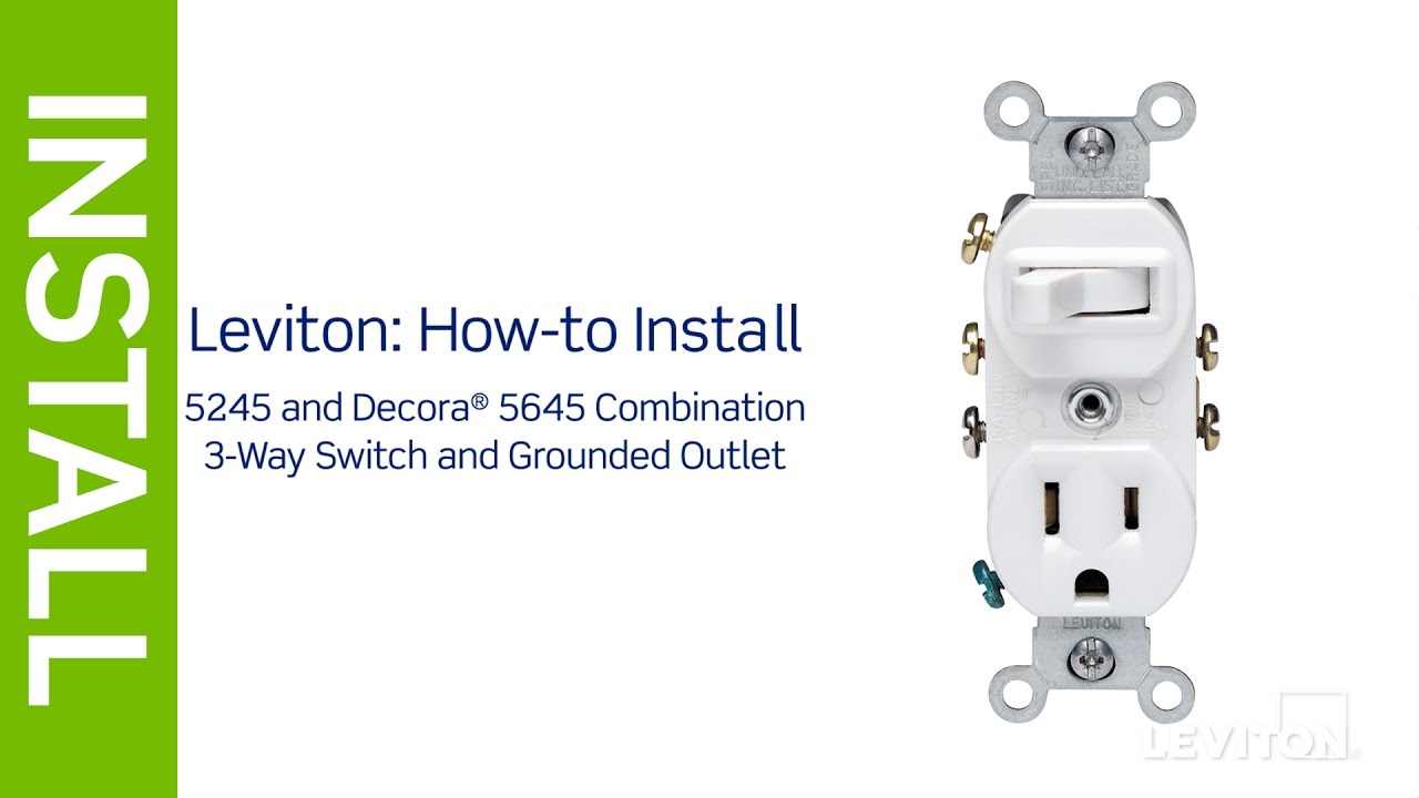 leviton presents how to install a combination device with a three way switch and a receptacle [ 1280 x 720 Pixel ]