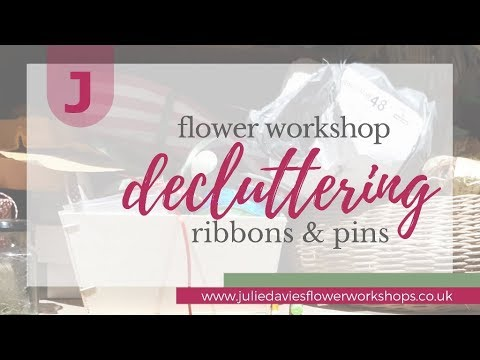 Decluttering your workshop (part 6 ribbons and pins)