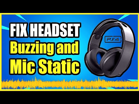 How To Fix PS4 Headset Buzzing, Static Or Cutting Out & Microphone Issues (Easy Method)