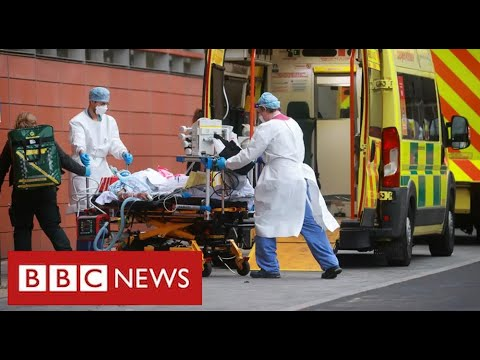 """UK announces record Covid deaths as hospitals """"overwhelmed"""" - BBC News"""