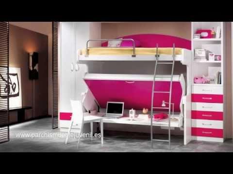 Mueble Juvenil Cama Mesa Abatible Literas Dormitorios Infantiles