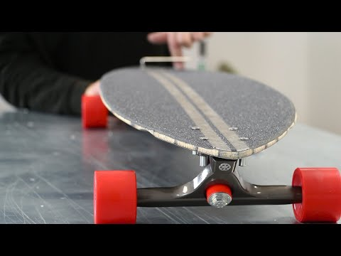 Resin Infused Skateboard Using Carbon Fibre, Flax And Bio Resin