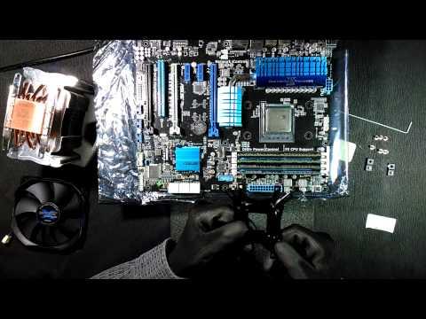 Установка Zalman CNPS10X Performa на материнскую плату ASUS M5A99X EVO R2 0 и AMD FX 8350