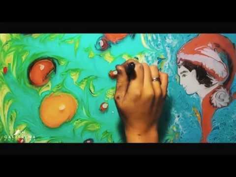 Water Art : Ebru. New Year - Malowanie na wodzie. Galitsyna Art Group