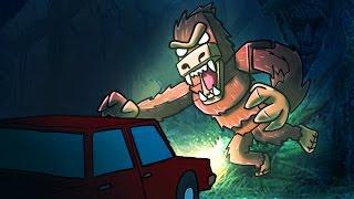 Minecraft | MURDER MAZE - Big Foot Attacks! (FINDING BIG FOOT)