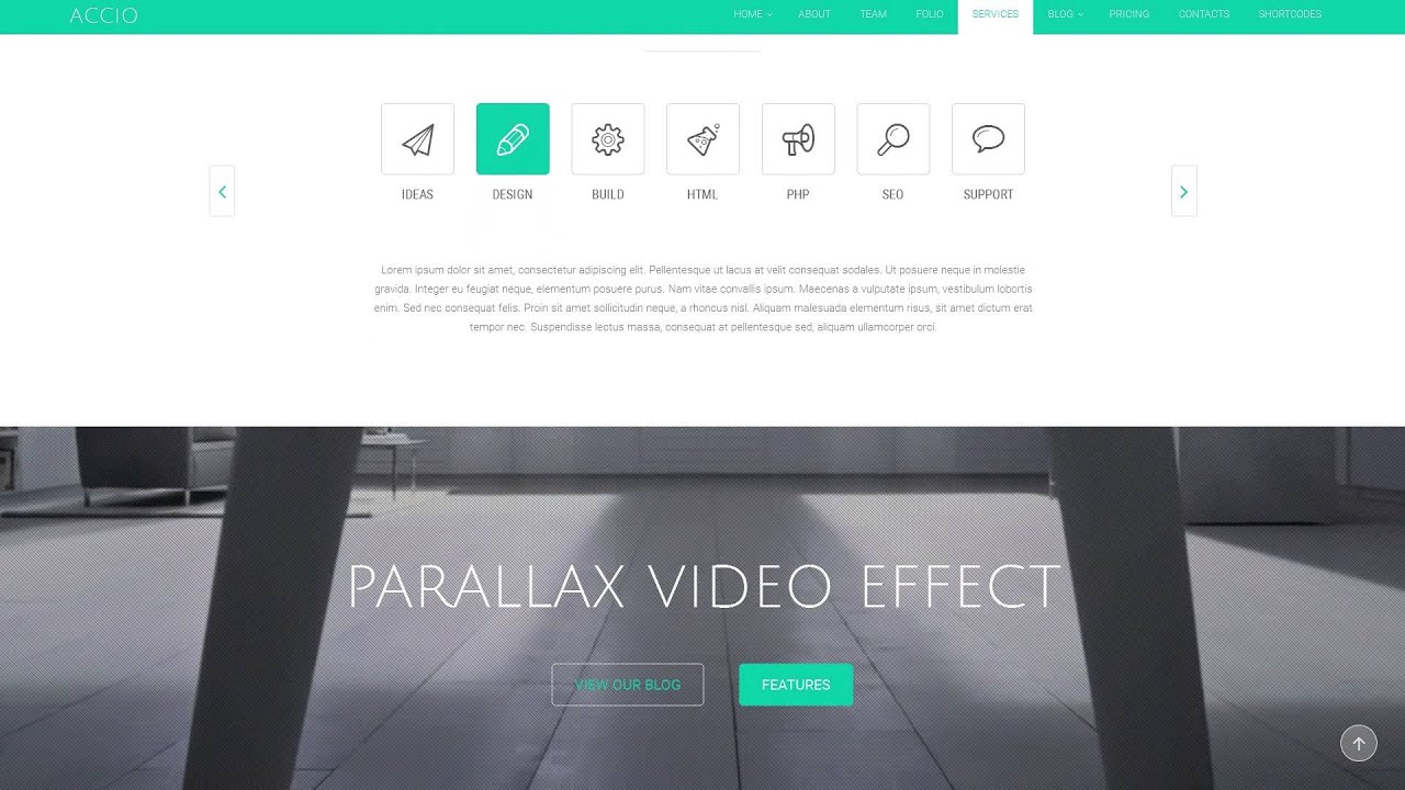 Accio One Page Parallax Responsive Joomla Template - YouTube